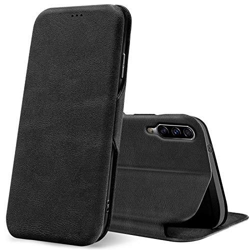 Verco Funda para Samsung Galaxy A50, Samsung A30s Flip Libro Premium Carcasa [Cierre Magnético] Funda Protectora para Samsung A50 / A30s Case, Negro