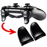 eXtremeRate Black Trigger Extenders L2 R2 Buttons, Game Improvement Adjusters for Playstation 4 PS4 Pro PS4 Slim Controller - 2 Pairs
