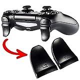 eXtremeRate 2 Pares de Disparador de Botones para PS4 L2 R2 Gatillo Extensor Quickfire Trigger Ajustables para Playstaion 4 Mando Pro Slim(Modelo: JDM-001 JDM-011 JDM-040 JDM-050 JDM-055)-Negro