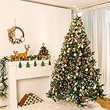 Yorbay künstlicher Weihnachtsbaum mit Beleuchtung weiß Schnee LED Tannenbaum für Weihnachten-Dekoration (210CM) - 3