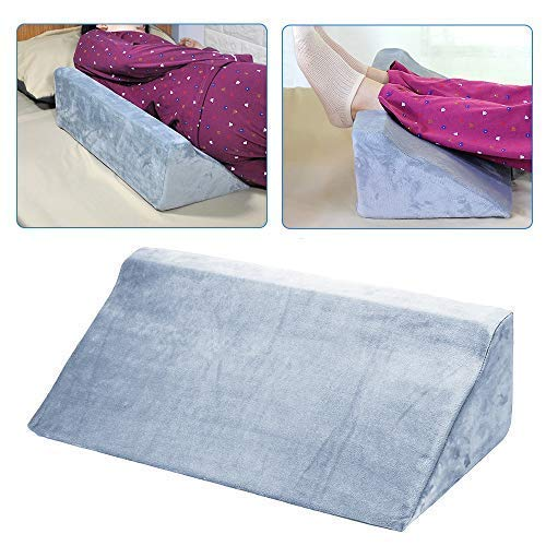 Foam Wedge Pillow for Sleeping Incline Bed Wedges and Body Positioners Back 30 Degree After Surgery Therapedic Elevation Positioning Pillow Adults Side Sleeper Support Bolster (Gray)