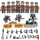 German Squad WW2 World War II 8 Custom Soldiers Set Weapons Blitzkrieg Building Blocks