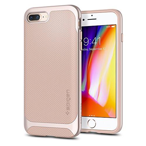 Spigen Cover Neo Hybrid Herringbone Compatibile con iPhone 8 Plus Compatibile con iPhone 7 Plus - Pale Dogwood