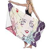 hoist Kawaii Harley Quinn Toallas de baño de microfibra 70x140 cm Toalla de playa grande Deporte Toallas Camping Accesorios