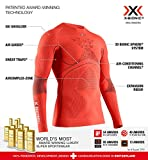 X-Bionic Energy Accumulator 4.0 Round Neck Long Sleeves, Strato Base Camicia Funzionale Uomo, Sunset Orange/Anthracite, XL
