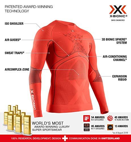 X-BIONIC Energy Accumulator 4.0 T-Shirt à Manches Longues et col Rond pour Homme L Sunset Orange/Anthra.