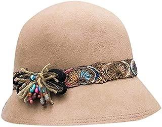 TOOGOO Korean Casual Hat Woolen British Dome Hat Female Wild Fisherman Hat BLACK