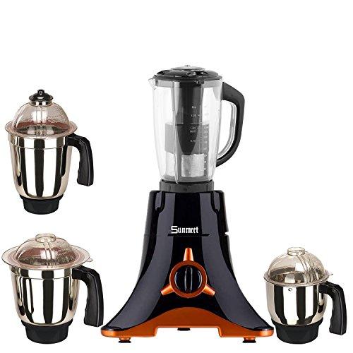 Sunmeet Black Color 550Watts Mixer Juicer Grinder with 4 Jar (1 Juicer...