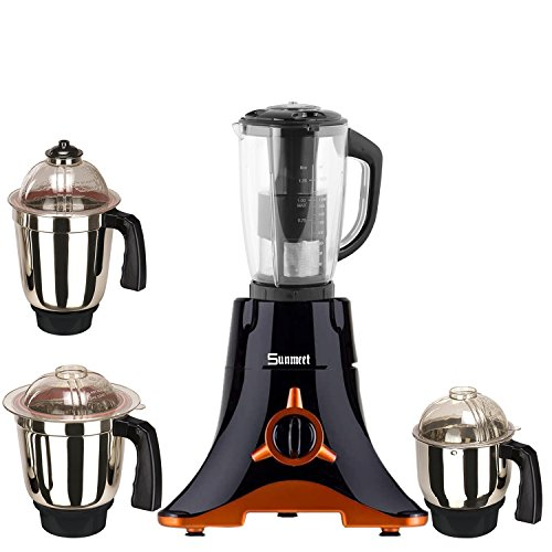 Sunmeet Black Color 550Watts Mixer Juicer Grinder with 4 Jar (1 Juicer...