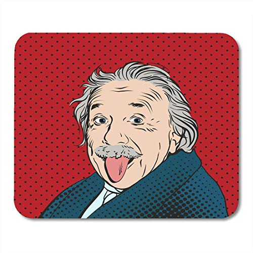 Mauspads 14. November Porträt von Albert Einstein Physiker Chemiker und Mathematiker im Retro Comic Pop Mauspad für Notebooks, Desktop-Computer Mini-Büromaterial Mausmatten