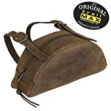 TrailMax Leather Pommel Pocket Horse Saddle Bag for Western Or Endurance Saddle, Premium Leather with Brass Buckles, Part of The Leather & Canvas Collection