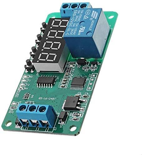 Mukuai54 Módulo de control del temporizador de retraso de retraso de la auto-bloqueo multifunción Módulo de control del temporizador DC 12V CE030 Módulos del controlador Interruptor de control Bricola