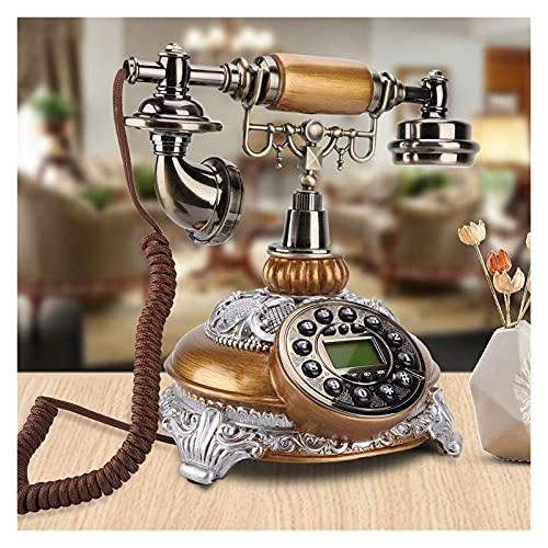 ZHANGKAIXUAN Retro Telefon Vintage Antikes Dual System nostalgisches Telefon mit LCD Display Classic Festnetztelefontelefon Telefon Haus Telefon Festnetztelefon FüR