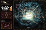 Star Wars Galaxy Map Illustration- Science Fiction Film Movie Nerdy Home Decor Poster Print (11x17 inches)