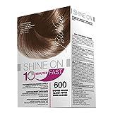 Bionike Shine On Fast Trattamento Colorante Capelli (Tono Biondo Scuro 600) - 1 flacone x 60 ml. + 1 tubo x 60 ml. (Totale 120 ml.)