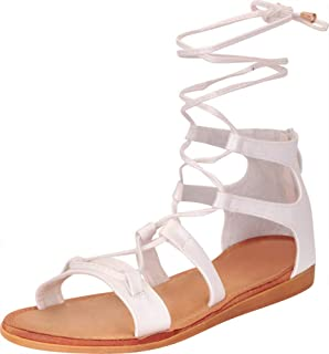 Women's Crisscross Strappy Ankle Tie Flat Gladiator Sandal