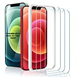 (3 Pack) Amuoc Tempered Glass Screen Protector Compatible for iPhone 12/iPhone 12 pro(6.1'), with (Easy Installation Tray) Anti Scratch, Bubble Free