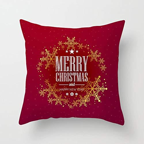 Qishi Merry Christmas decoration square pillowcase sofa pillowcase 45 * 45cm