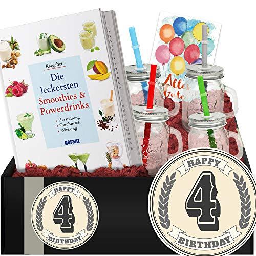 Geschenkidee 4. Geburtstag - Powerdrinks DIY-Geschenk - 4 Geburtstag Geschenk