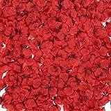 PartyWoo Rosenblätter, 1000 Stück Rosenblätter Rot, Künstliche Blütenblätter, Rosenblätter Hochzeit, Blütenblätter Hochzeit, Rosenblätter für Hochzeitsdeko, Valentinstag Deko, Hochzeit Deko