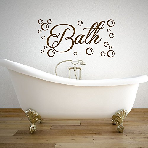 yuandp Bubbels en badkamer vinyl poster bad behang badkuip stickers schoonmaken wasruimte sticker afneembare hoogwaardige muurschildering 42 * 85 cm