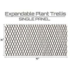 """Willow Trellis:This plant support are made of 100% real willow,willow sticks is are about 1/4"""" to 3/8"""" thick WIDELY USED:The expandable garden trellis is a perfect climbing plant support no matter short or tall plant,also can be used as fences,divide..."""