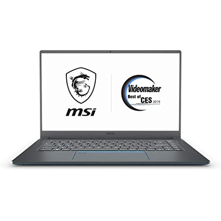 "MSI PS63 Modern-085 15.6"" Ultra Portable Creative Laptop NVIDIA GTX 1050 4G Max-Q, Intel Core i7-8565U, 16GB, 512GB NVMe SSD, White Backlit KB, Win 10 Pro, Ash Grey w/ Blue Diamond Cut"