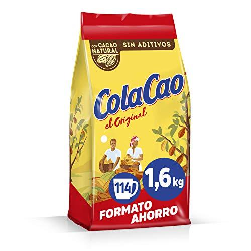 Cola Cao Original con Cacao Natural y sin Aditivos, 1600g