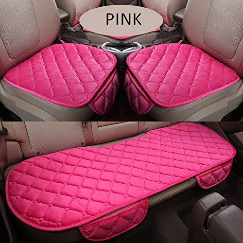 Warme autostoelhoes kussen universeel kort pluche fluweel voorste auto stoel pad voertuig auto accessoires stoel beschermer roze