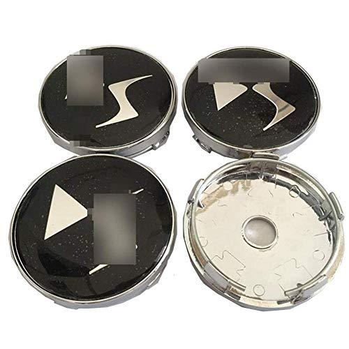 JYEBJD 4 Pezzi Cappucci Centrali delle Ruote Adesivo Distintivo 3D per Citroen DS, Coperture Antipolvere per Ruote Cover con Stemma Distintivo Adesivi Logo Wheel Trim Accessori, 60MM