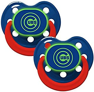 Baby Fanatic Pacifier - Glow In The Dark (2 Pack) - Chicago Cubs by Baby Fanatic