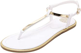 Sexy thin belt flat sandals for women summer gold sandals with T-Strap sandals