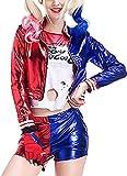 Damen Faschingskostüme Harley Quinn Sucide Squad Cosplay Outfit Set T-Shirt Shorts Jacke Erwachsene...