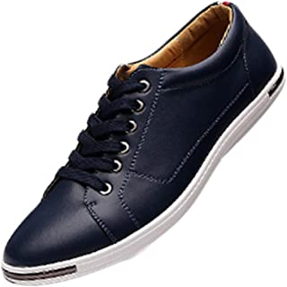 Fulision Fashion Men's Lacing Leather shoes Low help Round head Casual shoes