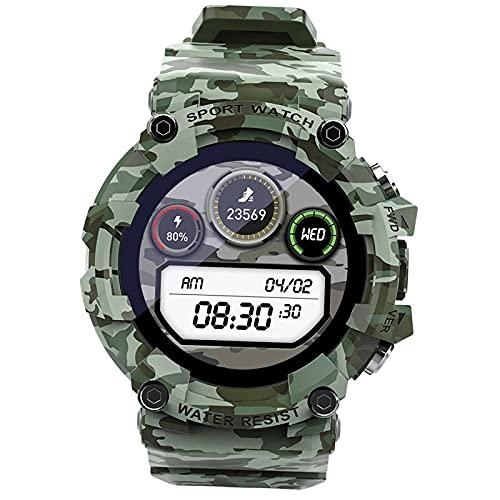 MERIGLARE Reloj Inteligente Deportivo 4G Recordatorio de información a Prueba de Agua Configuración SOS Reloj Despertador Control de música para Deportes - Verde