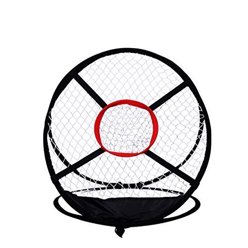 JUANstore Jaula de Bateo para Práctica de Golf Práctica de Tiro Al Aire Libre del Patio Trasero Redes de Golpe Emergentes para Columpios de Precisión en Interiores Juego Portátil,Negro