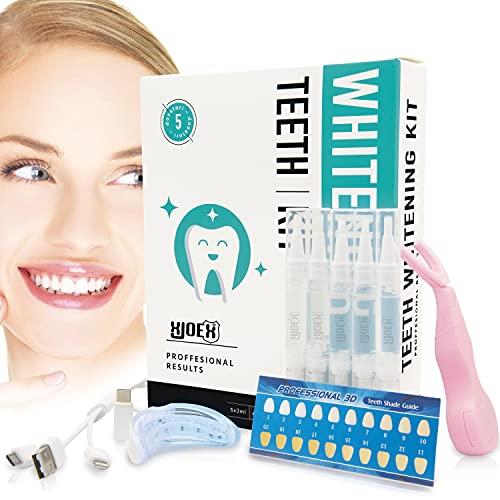 Kit Sbiancante Denti Professionale Led Filo Interdentale Dentifricio Sbiancamento Professionale Carbone Attivo Denti Sbiancante White Shock Led Teeth Whitening Smile Ready Denti