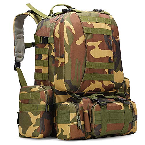 Waterproof Tactical Backpack 4 in 1 Camouflage Millitary Backpack Army for Camping Hiking Backpack Outdoor Bags 50L
