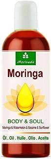 Aceite de Moringa Body & Soul (Cuerpo y Alma) aceites 100% prensados en frío de semillas de Moringa, sandía, sésamo y girasol. Para cocina, masajes, cuidado de la piel, antienvejecimiento, 100ml