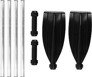 210cm/82.7-Inch Aleación de aluminio de doble extremo Remos desmontables Kayak remos portátiles