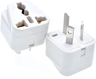 Travel Adapter Plug, Grounded Universal Type I Plug Adapter US/UK/EU to AU Adapter - Ultra Compact for Australia, New Zealand, China and More, 2 Pack