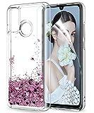 LeYi Coque pour Huawei P Smart 2020 avec HD Protection écran, Fille Personnalisé Liquide Paillette...