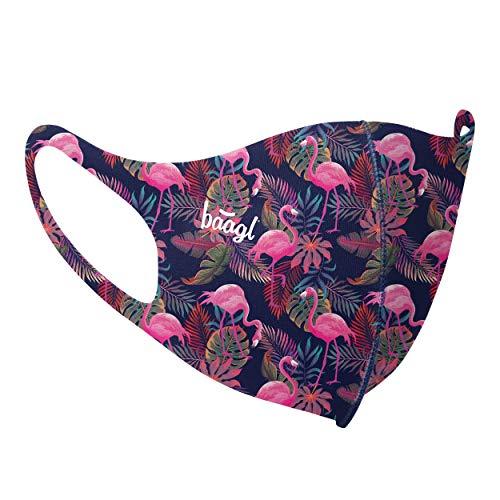 Mund und Nasenschutz Waschbar mit Flamingo Motiv, Mundschutz Maske für Damen, Schutzmaske Stoffmaske (Flamingo - Erwachsene)