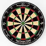 PINPOINT Platinum Tour Diana de Dardos Profesional – Diana de Pelo para Juegos de Salón en Casa o en Clubes o Bares – Trípode y Marco Opcionales (Diana + Trípode)