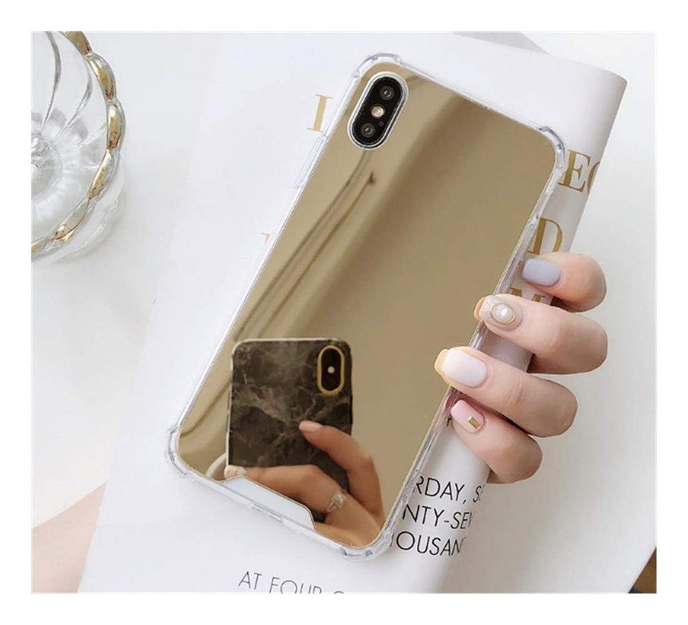 発掘する考慮封建KAZOKUYiZi スマホケース 携帯ケース for Iphone 11/XS/X/XS/8/7/6 かわいい 軽量 保護ケース 鏡 カバー 落下防止 ミラー (Color : Golden, Size : Iphone6p/6Splus)