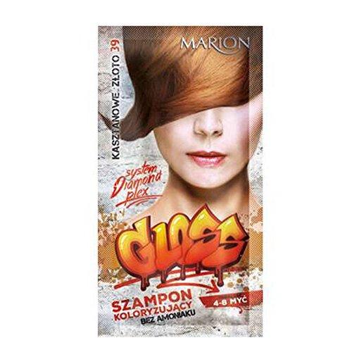 Marion - Champú de color brillante para el cabello en bolsitas de 4 a 8 lavados, color dorado