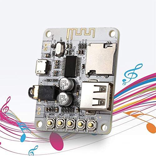 ARCELI Portable Wireless Bluetooth Audio Receiver Board, TF-Karte USB Decording Play, Bluetooth Stereo-Musik-Sender-Modul für Kopfhörer HiFi Verstärker