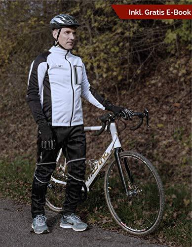 CYCLEHERO Thermohose Herren (untersch. Größen) - Fahrradhose Herren lang mit reflektierenden Elementen & bequemem Innenmaterial – wasserdichte Softshellhose Herren fürs Fahrradfahren und Joggen - 6