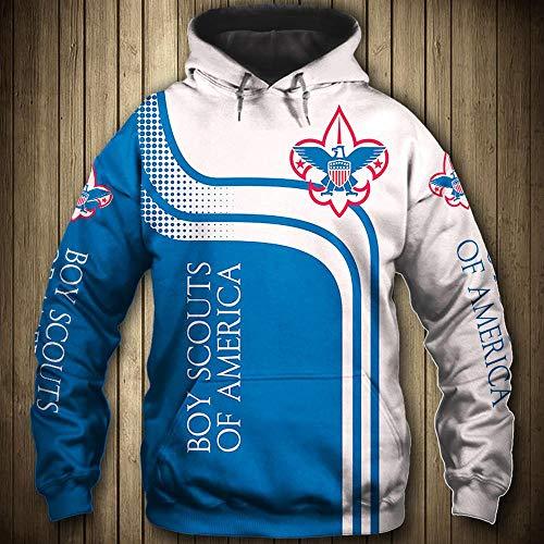 LIULL Sport Hoodies Pullover Pfadfinder 3D Digital Sweatshirt Baseball Uniform Teens Jacke A-XXXL
