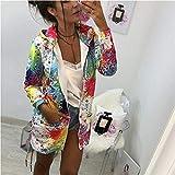 NCKLY Jacke mit Damenprint Frauen Lange Mit Kapuze Floral Windbreaker Parka Jacke Mantel Outwear Top Damen Reißverschluss Hoodie Outwear